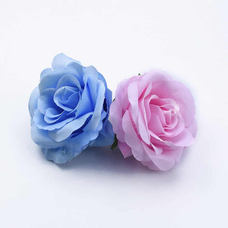 2/5/10 peças Scrapbooking 10 CENTÍMETROS rosas do casamento cabeça flores decorativas parede noiva broche flores artificiais para decoração de casa