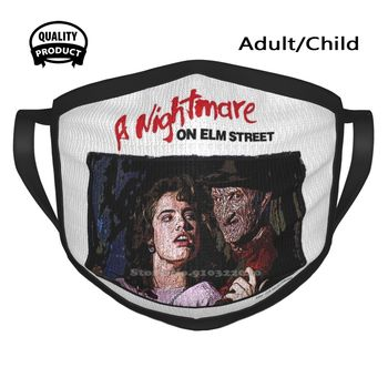 A Nightmare On Elm Street Cotton Breathable Face Mouth Mask Eml Eml Cult Movies Collection Cult Movies Wes Craven Heather image