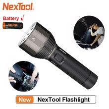 NexTool şarj edilebilir el feneri 2000lm 380m 5 modları IPX7 su geçirmez LED ışık tip c sema Torch kamp için