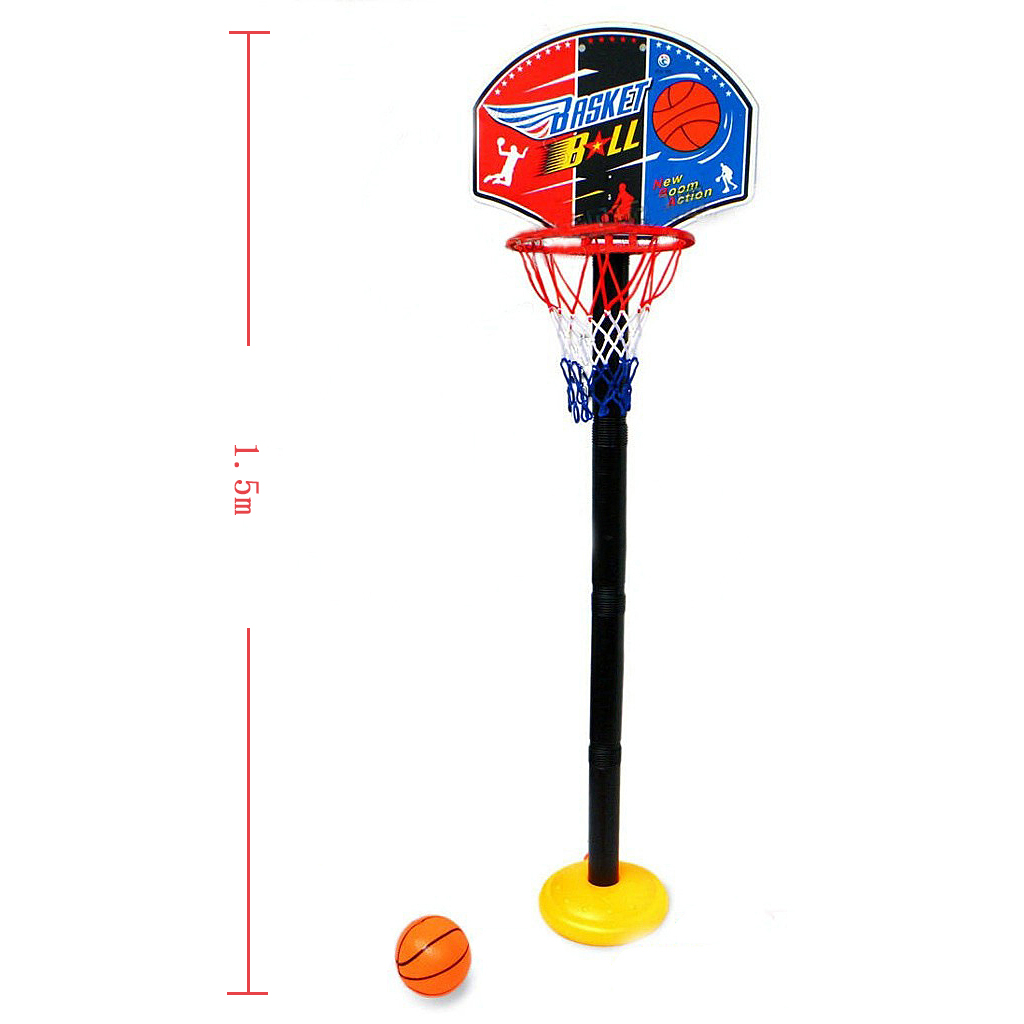 Kid Mini Basketball Play Set W/ Adjusted Backboard Hoop Indoor Outdoor Toy
