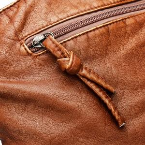 Image 5 - 2020 Quality Women Shoulder Bag Soft leather Purses And Handbags Daily Black Crossbody Bags for Women Designer Messenger Bag