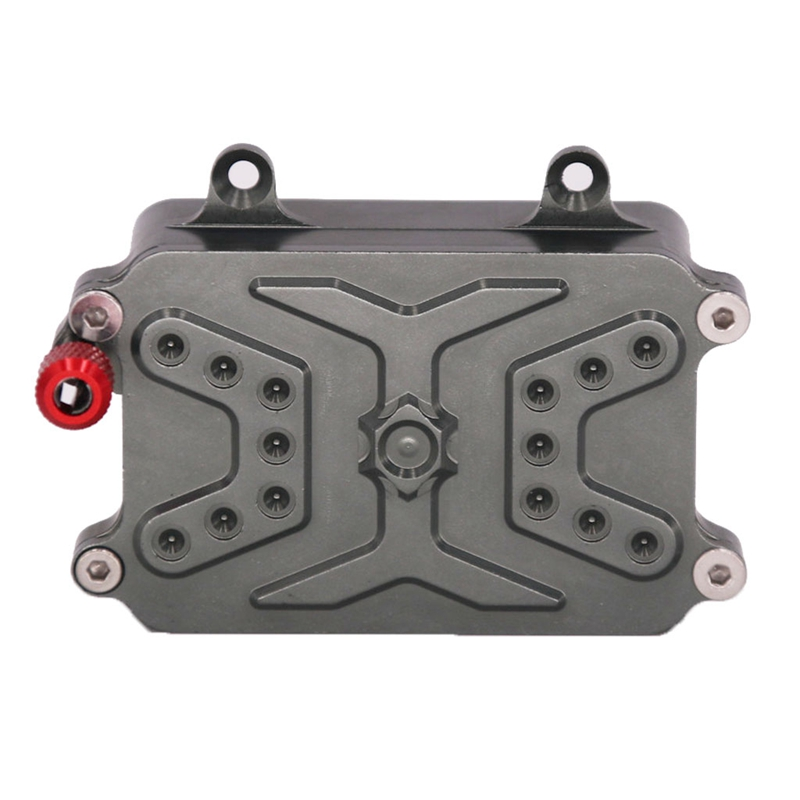 Купить с кэшбэком CNC Metal Receiver Box ESC for 1/10 RC Crawler Car Axial SCX10 RC4WD D90 D110 Upgrade Parts