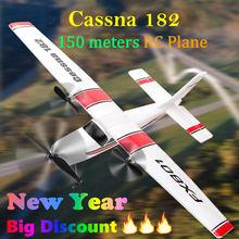 Iniciante Eletricidade Avião RC Cessna 182 Kit UAV Brinquedo de Controle Remoto planador de avião Distância Aérea 150 metros DIY Planador de Espuma Epp Elétrica Aumente a Bateria Para Voar Mais