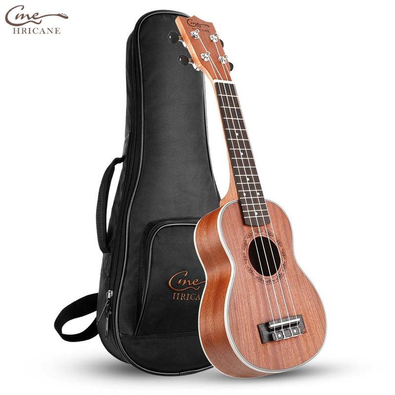 Hricane Spring 21 Inch 15 Frets Ukulele Guitar Soprano Sapele Rosewood 4 Strings Hawaiian Guitar Musical Instruments Gig Bag