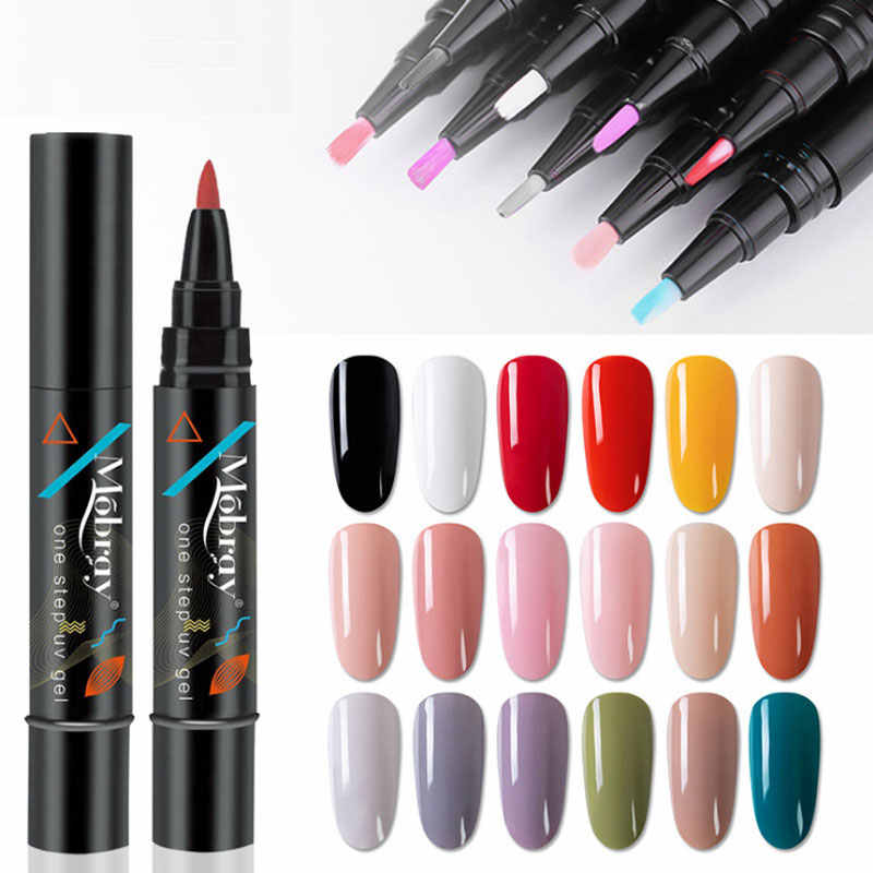 Nieuwe Collectie Gel Polish Pen Een Stap 3 In 1 Vernis Gellak Geen Behoefte Base Of Top Esmalte Permanente Nail art Hybrid Uv Gel Lak