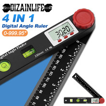 4 In1 Digital Protractor Angle Ruler Spirit Level Universal Level Ruler Woodworking Electronic Angle Instrument Angle Protractor