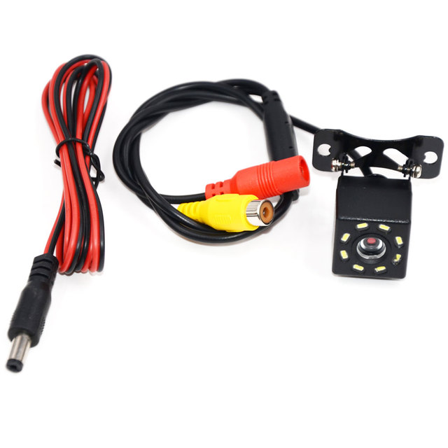 BYNCG 8 LED IR Night Visions Car Rear View Camera Wide Angle HD Color Image Waterproof Universal Backup Reverse Parking Camera 5