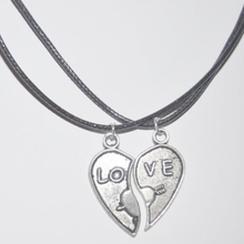 Broken Heart Necklace Set LOVE Necklaces for Couple, Sisters, Best Friends, BFF