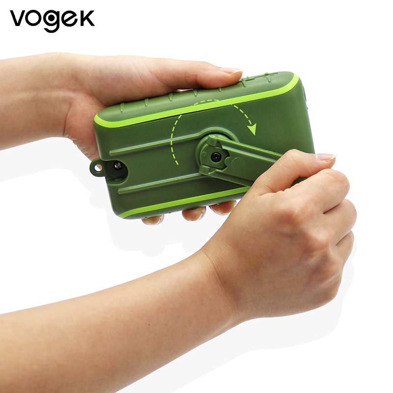 Vogek <font><b>6000mAh</b></font> 8000mAh Solar Energy Power Bank Double Usb Charge Hand Electricity Multi-functional Generation Charger image