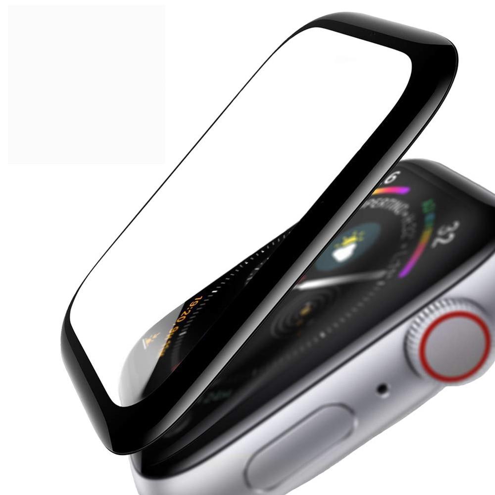 3d hd vidro temperado caso para apple assistir série 3 2 1 38mm 42mm protetor de tela filme para iwatch 5 4 44mm 40mm relógio accessorie