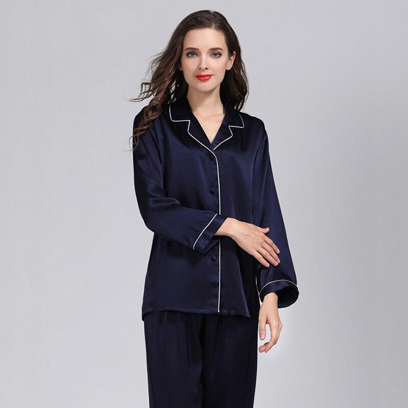 Nieuwe 100% Natuurlijke Zijde Sexy Lingerie Satijn Zijden Pyjama Voor Vrouwen Pyjama Vrouwen Nachtkleding Pyjama Set Night Suit Nachtkleding Pijama - 3