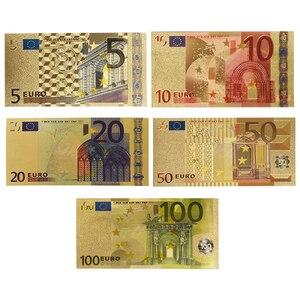 Оптовая продажа купюр в евро, поддельные золотые банкноты, бумага 10/20/50 евро, цены на банкноты, подарки для мужчин, Прямая поставка