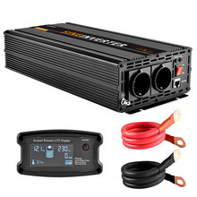 LCD Pure Sine Wave Inverter 2500w /5000w(Peak) Solar Power DC 12V 24V to AC 220V 230V with Remote Controller