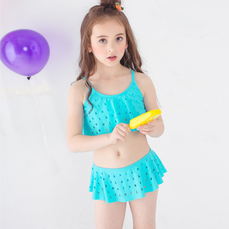PA Yasen New Style Bathing Suit-Style Children Cute Cartoon Split Skirt-Two-Piece Bathing Suit 1818