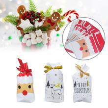 50PCS Christmas Candy Bag Gift Storage Bag Holiday