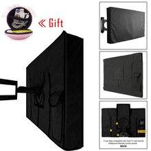 Прочная накладка в виде телевизора Пылезащитная и водонепроницаемая крышка экрана от 22 ''до 65'' дюймов Оксфорд черная упаковка телевизионный чехол Кондиционер