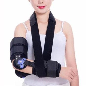 Hinged ROM Elbow Brace, Adjustable Post OP Elbow Brace for Post Op Elbow Fracture Rehabilitation