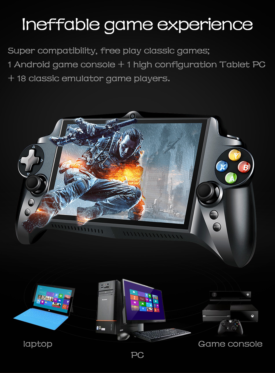 Hot selling S912K 7 inch 64G Touch screen game consoles Multiple simulators for Android system support wifi game consoles image