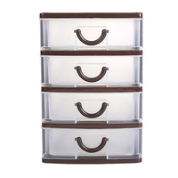 Plastic PP home Storage Boxes Tower Unit Tier Drawer Office Home Furniture Organizer Storage Boxes Case