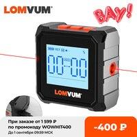 LOMVUM Digitale Winkelmesser Laser USB Neigungsmesser 360 ° Level Winkel Finder Hohe Präzision Goniometer Magnet Tilt Mess Werkzeuge