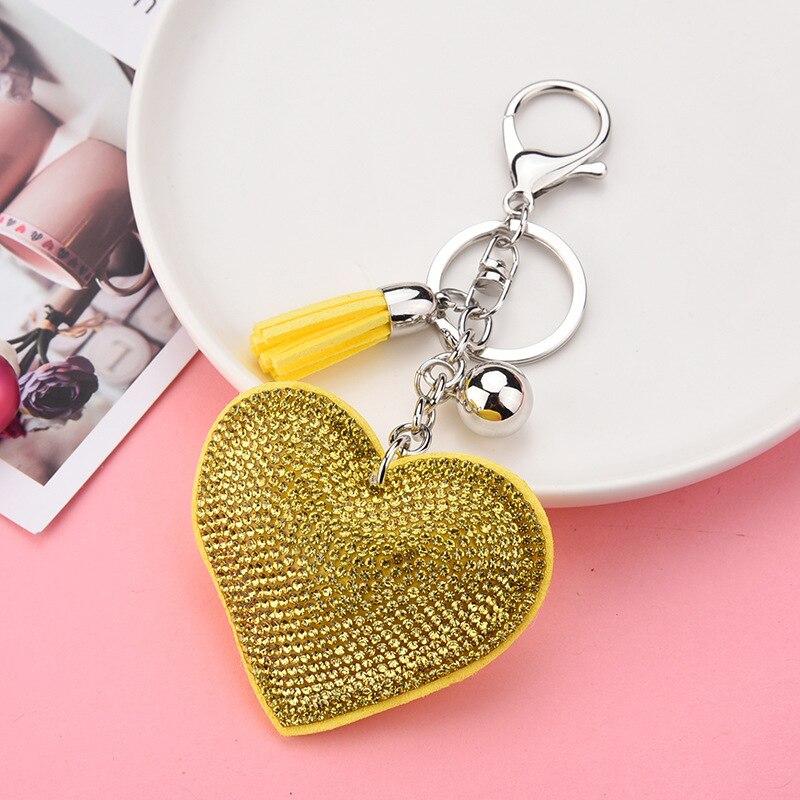 The New Han Edition Pentagram Hearts Metal Key Chain Fashion Lady Handbags Pendant Car Accessories
