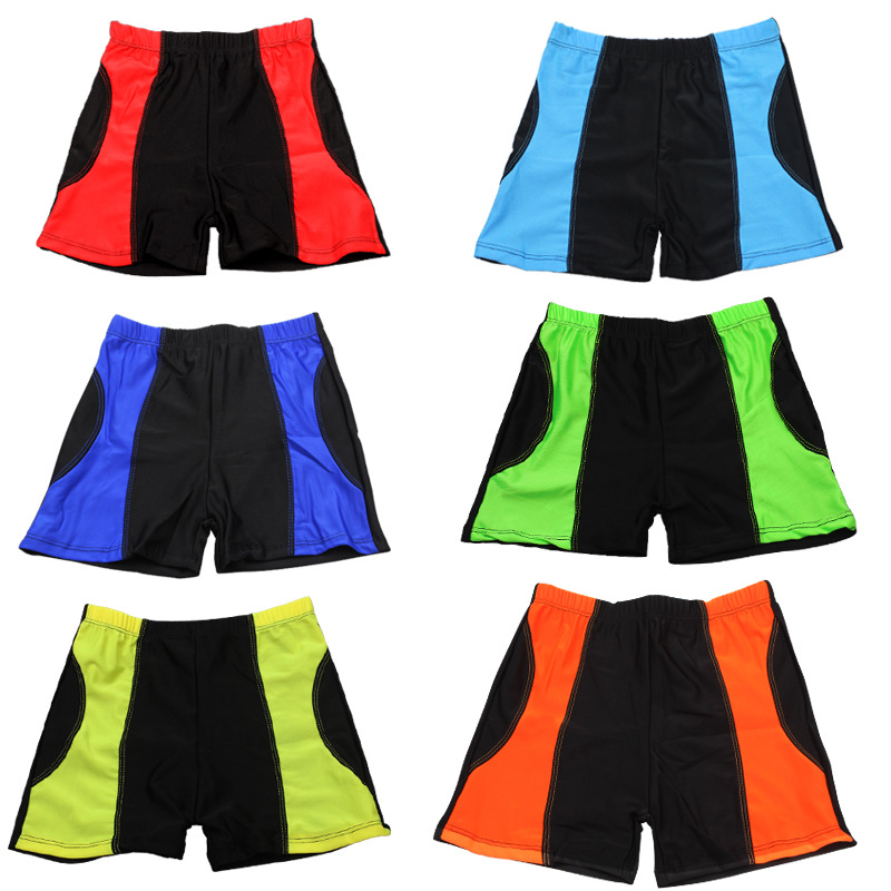 New Products Quick-Dry Breathable CHILDREN'S Swimming Trunks Mixed Colors Stripes Summer Beach Shorts BOY'S Swimming Trunks Curr