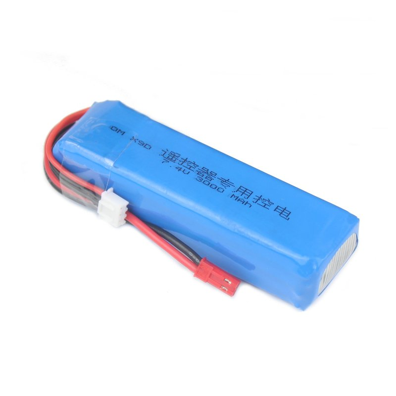 <font><b>7.4V</b></font> 2S <font><b>3000mah</b></font> <font><b>Lipo</b></font> <font><b>Battery</b></font> Rechargeable For Frsky Taranis X9D Plus Transmitter Spare Parts Remote Controller image