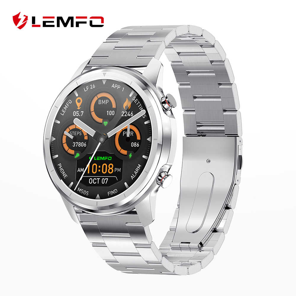 Lemfo LF26 Full Touch 360*360 Hd Amoled Screen Smart Horloge Mannen Bluetooth 5.0 Weer Horloge Gezicht IP67 Waterdicht smartwatch