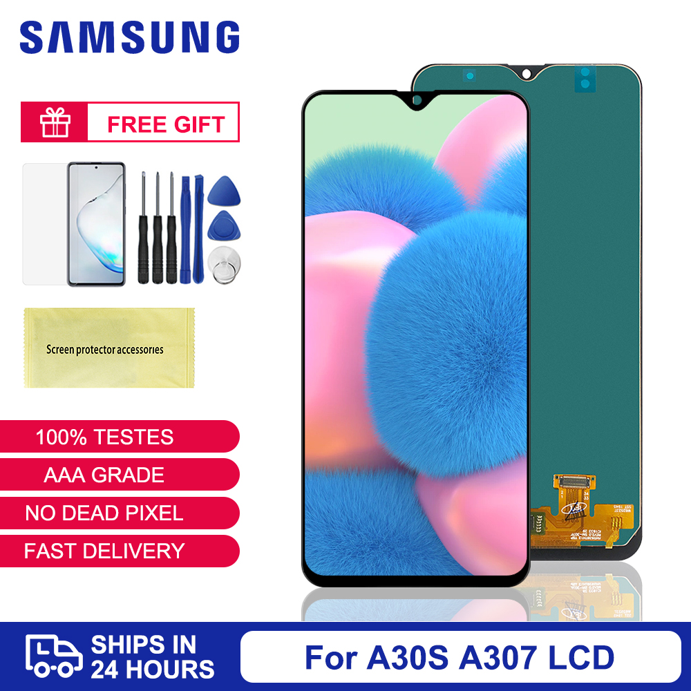 100% Tested A307 LCD For <font><b>Samsung</b></font> <font><b>A30S</b></font> LCD <font><b>Display</b></font> Touch Screen Digitizer Assembly For <font><b>Samsung</b></font> Galaxy <font><b>A30S</b></font> A307 A307F Replacement image