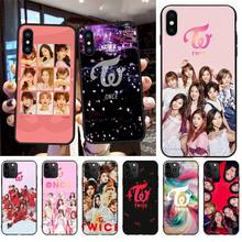 CUTEWANAN KPOP TWICE Black Soft Shell Phone Case Capa for iPhone 11 pro XS MAX 8 7 6 6S Plus X 5S SE XR case cutewanan item triathlon ironman black soft shell phone case capa for iphone 11 pro xs max 8 7 6 6s plus x 5s se 2020 xr case
