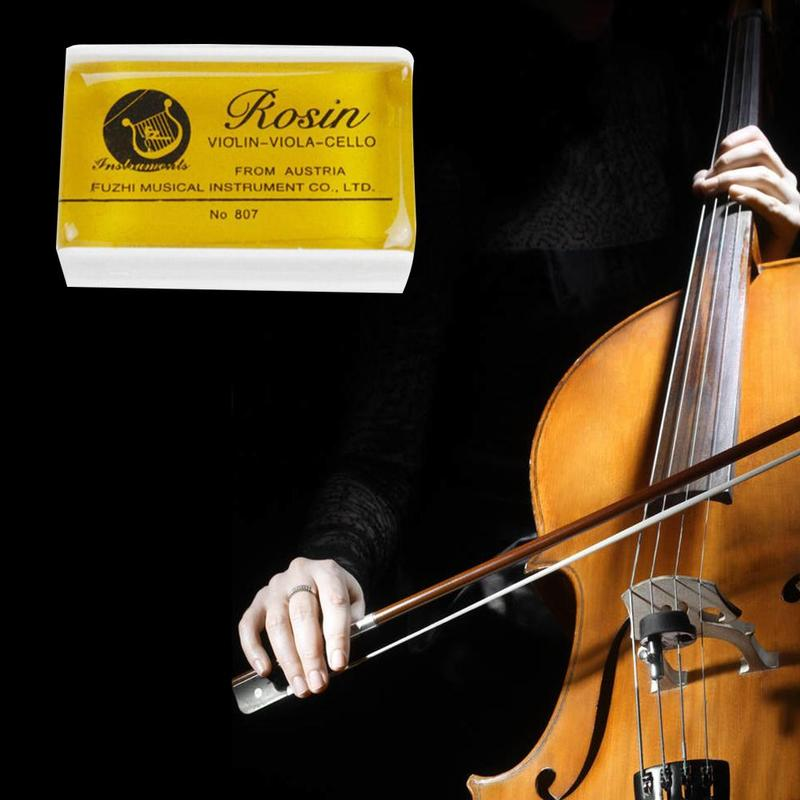 Transparent Yellow Rosin Resin Colophony Rectangle Cello Bowed 45X28X16mm Viola String Violin Erhu Accessories With Box K0H2
