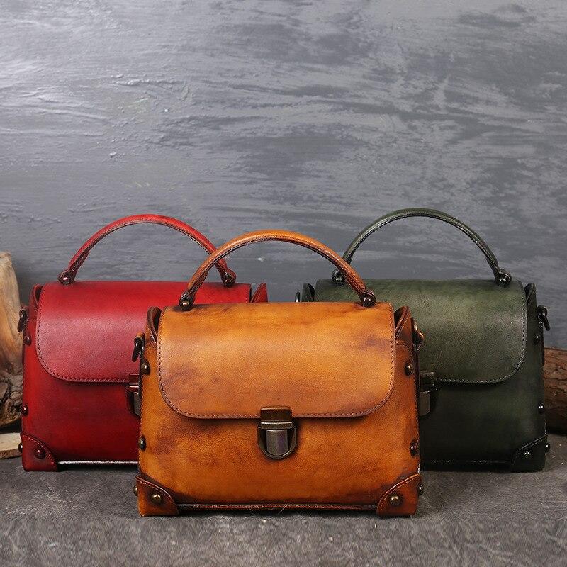 Vintage Design Lady Shopping Shoulder Bag