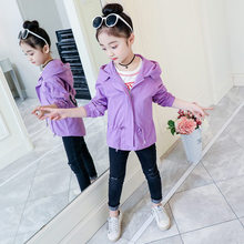 Kids Coats Girls Purple Trench Coat Teen Zipper Hoodies for Teenage 4 11 to 12 13 years Jacket Child Girl