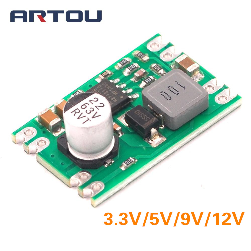 DC-DC Step Down Power Supply Module Buck Regulated Board 2A Input 8-55V Output 3.3V 5V 9V 12V Electronic DIY PCB image