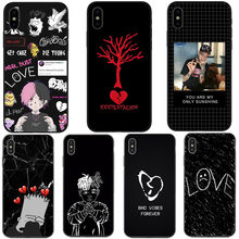 Xxxtentacion Bad vibes forever lil peep 블랙 실리콘 전화 케이스 커버 For iPhone 5 5S SE 6 6S Plus 7 7Plus 8 Plus X XR XS MAX(China)