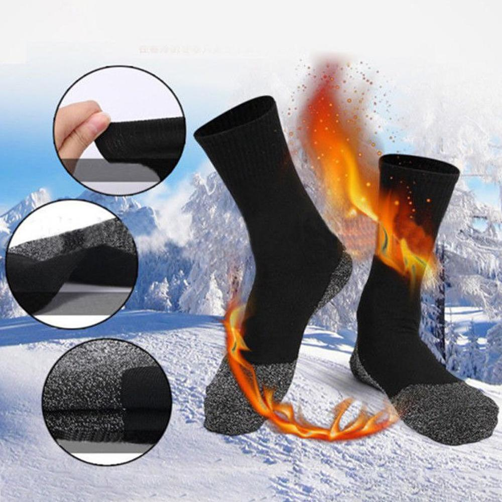 Hot Winter Ski Socks Men Thermal Warm Heat Guard Hiking Snow Ski Sports Socks Boot Warm Heat Guard Hiking Ski Sports Sock