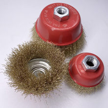 75mm bowl -type steel wire brush high quality grinding polishing derusting deburring cup brush for angle grinder hot sale