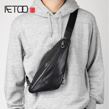 Мужская нагрудная сумка aetoo из натуральной кожи трендовая