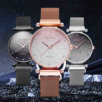 reloj mujer Fashion ladies watch Sky Watch Magnet Band Women Quartz Diamond Wristwatch Watches bayan kol saati