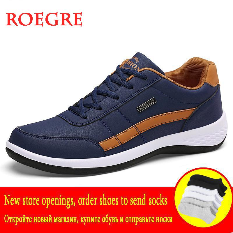 Fashion Men Sneakers For Men Big Size Casual Shoes Breathable Lace Up Casual Man Shoes Autumn Leather Shoes Men Chaussure Homme