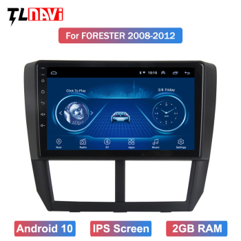 9 Inch Android 10 Car Radio For 2008 2009 2010 2011 2012 Subaru Forester GPS Audio Head Unit Multimedia Player image