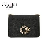 JOSINY-Bolso de mano con gran capacidad para mujer, bandolera con cierre, bolsa teléfono cartera con correa