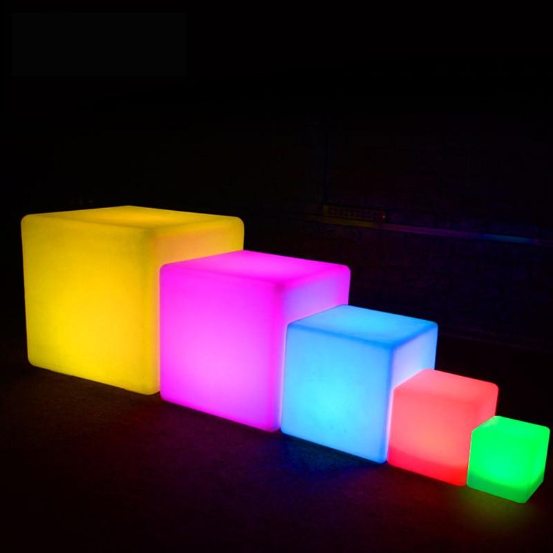 UNIQUE LUNA Designer MOOD Light Indoor Outdoor LED Rechargeable CUBE 40