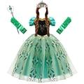 Anna Kleid für Mädchen Cosplay Schnee Königin Prinzessin Kostüm Kinder Halloween Kleidung Kinder Geburtstag Karneval Phantasie Party Disguise