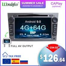 Автомобильный DVD проигрыватель для Opel, Android 9.0, 4 ядра/8 ядер, IPS экран, DSP 2DIN, GPS навигация, для Opel Vauxhall Astra H, G, J, Vectra, Antara, Zafira, Corsa