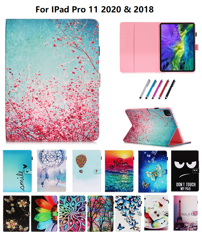 Random One Gold Owl Flowers Tablet Cover For iPad Pro 11 Case 2020 Coque Wallet Stand Tablet Funda For
