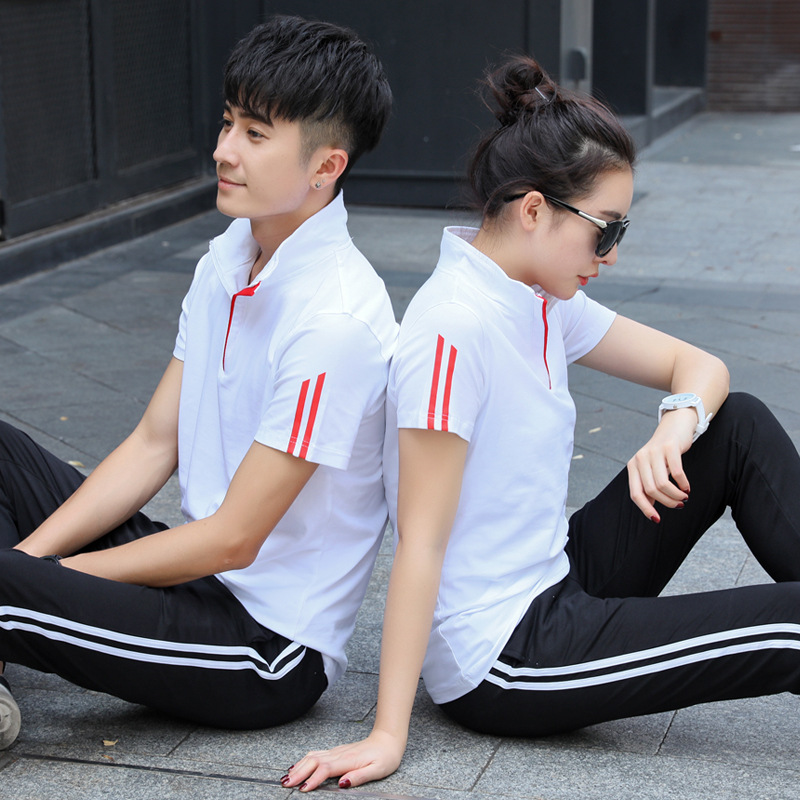 Customizable Is Set Men's School Uniform Short Sleeve Is Summer 18 Cotton T-shirt WOMEN'S Suit Men's Celebrity Style Is T-shirt