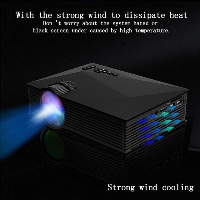 Original UNIC UC68 UC68H projecteur à LED Portable 1800 Lumens 80 110 ANSI HD 1080p vidéoprojecteur Full HD pour Home Cinema