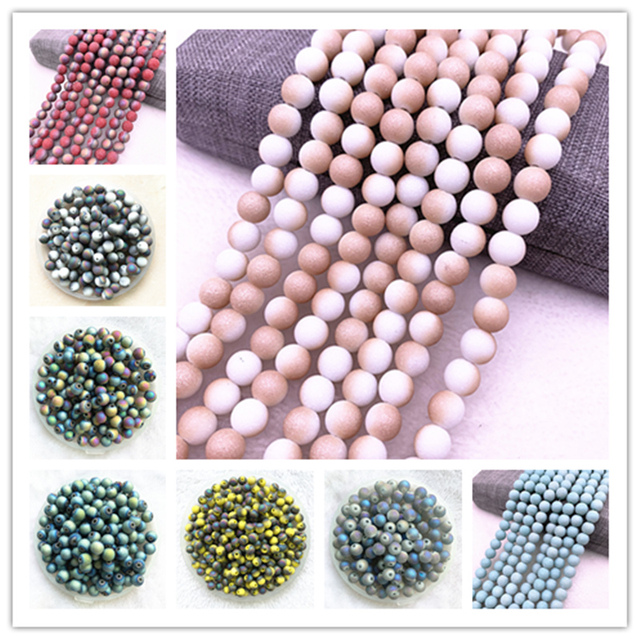 Frosted Glass Beads 2