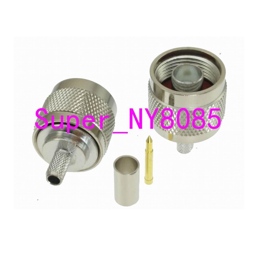 Connector N Male Plug Crimp RG58 RG142 LMR195 RG400 Cable Straight